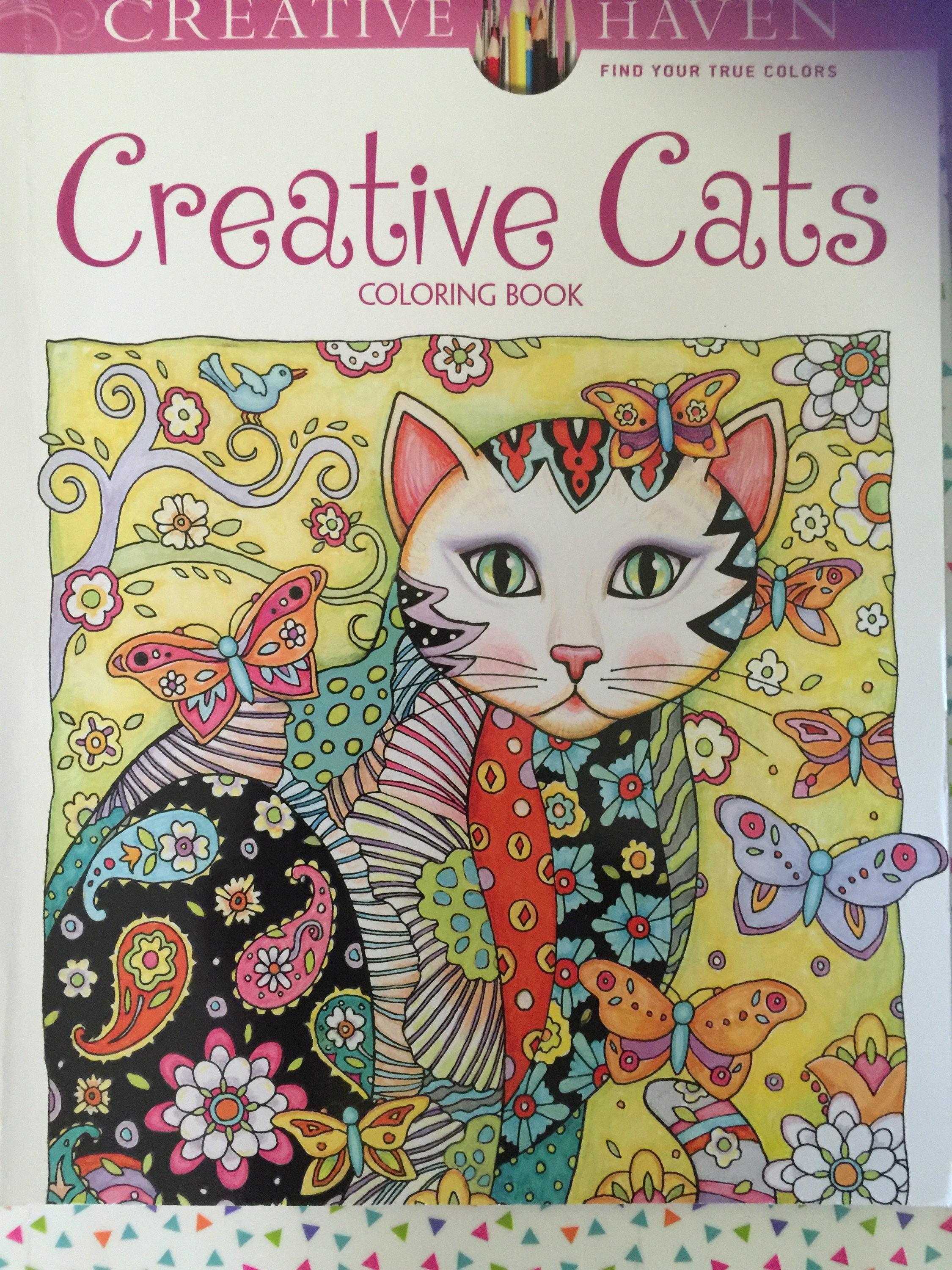 Creative Haven Cats Chronically Batgirl Colours