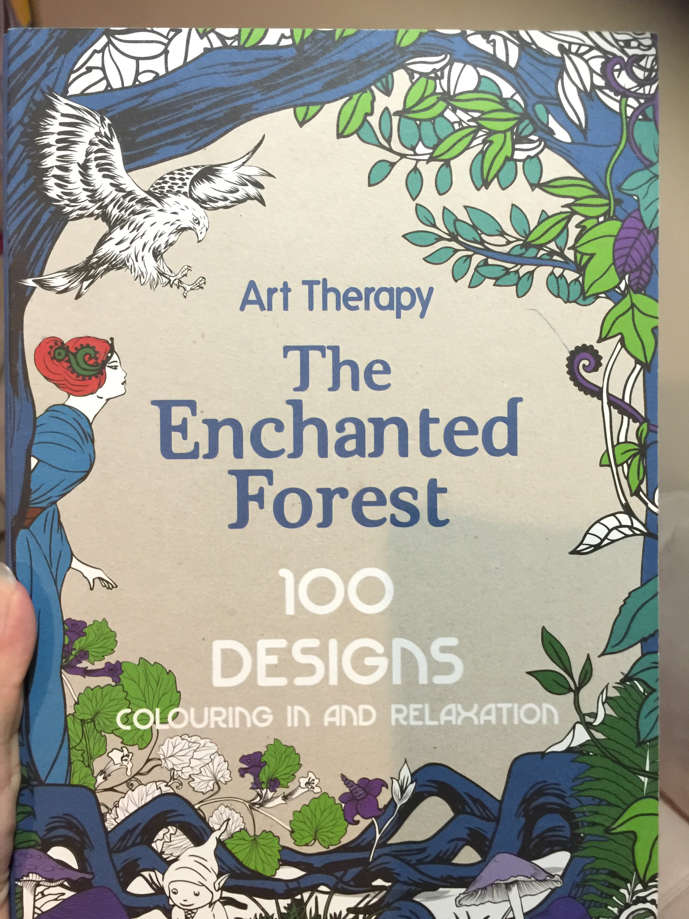 enchanted forest coloring colouring color coloured pencils mindfulness reviews art art therapy stress relief adult coloring