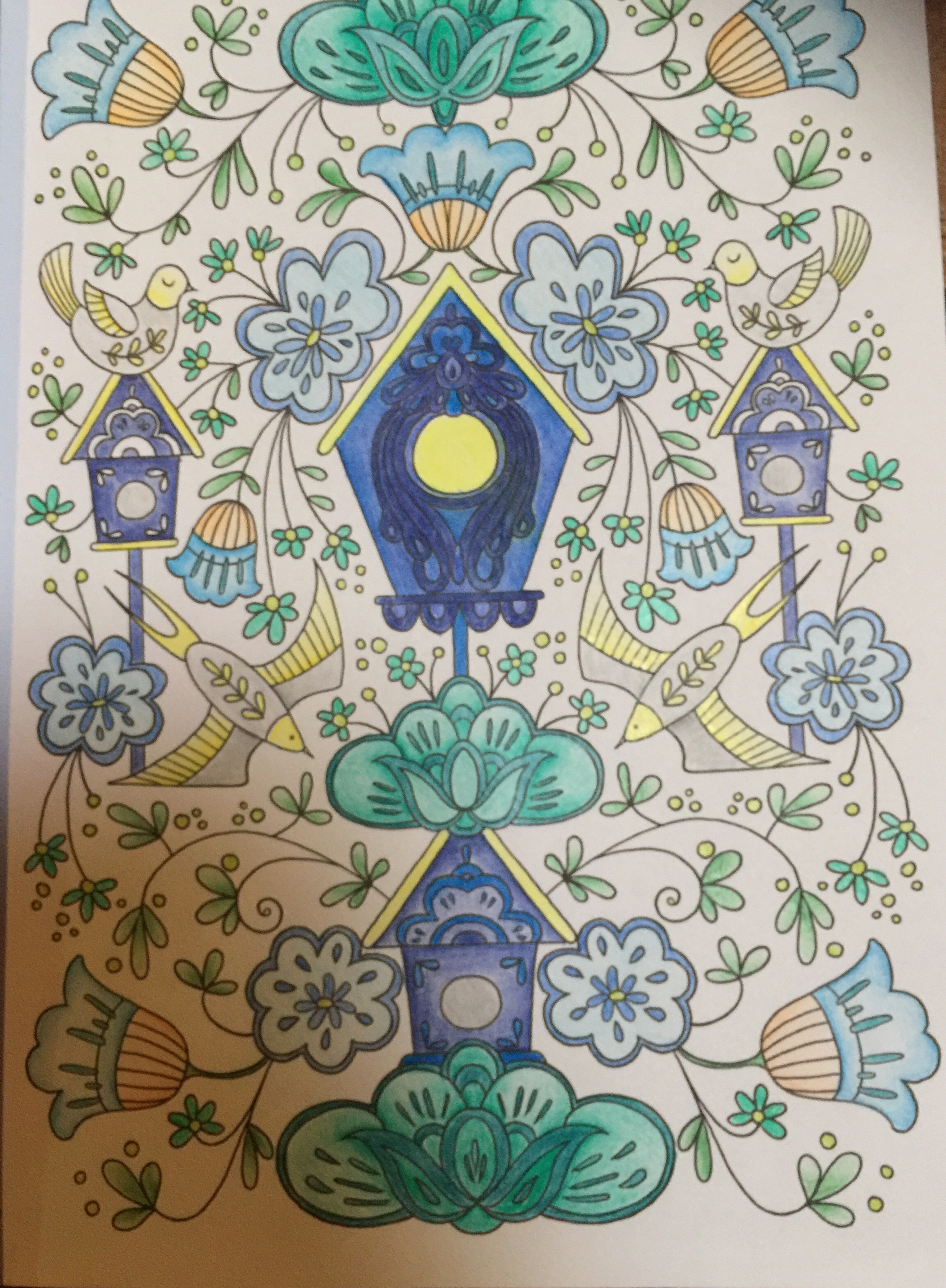 Creative Colouring Patterns : Creative colouring for grown ups scandinavian folk