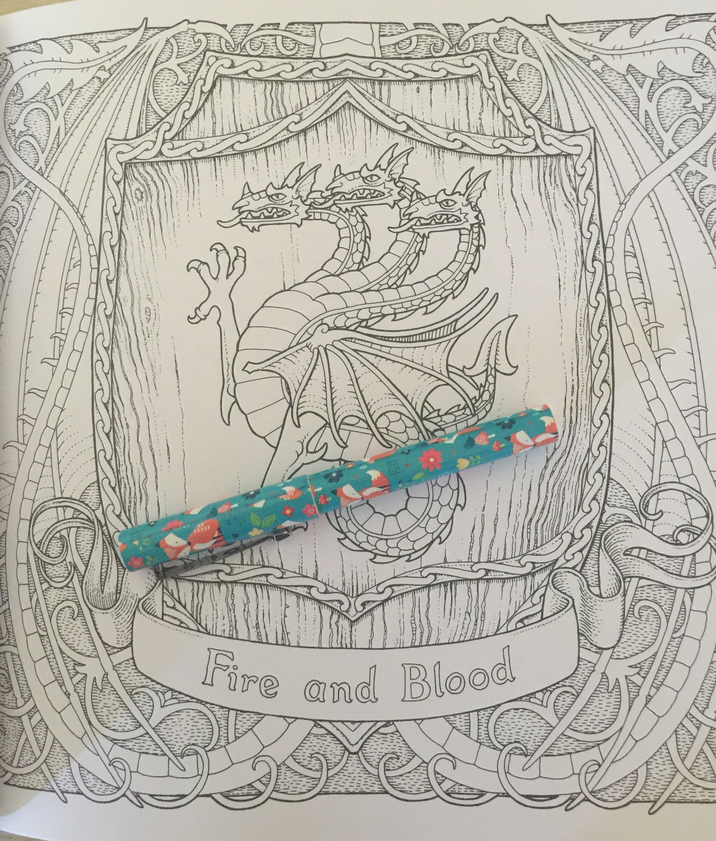 game of thrones coloring got colouring book adult colour color pencils stress relief mindfulness reviews art therapy fineliners