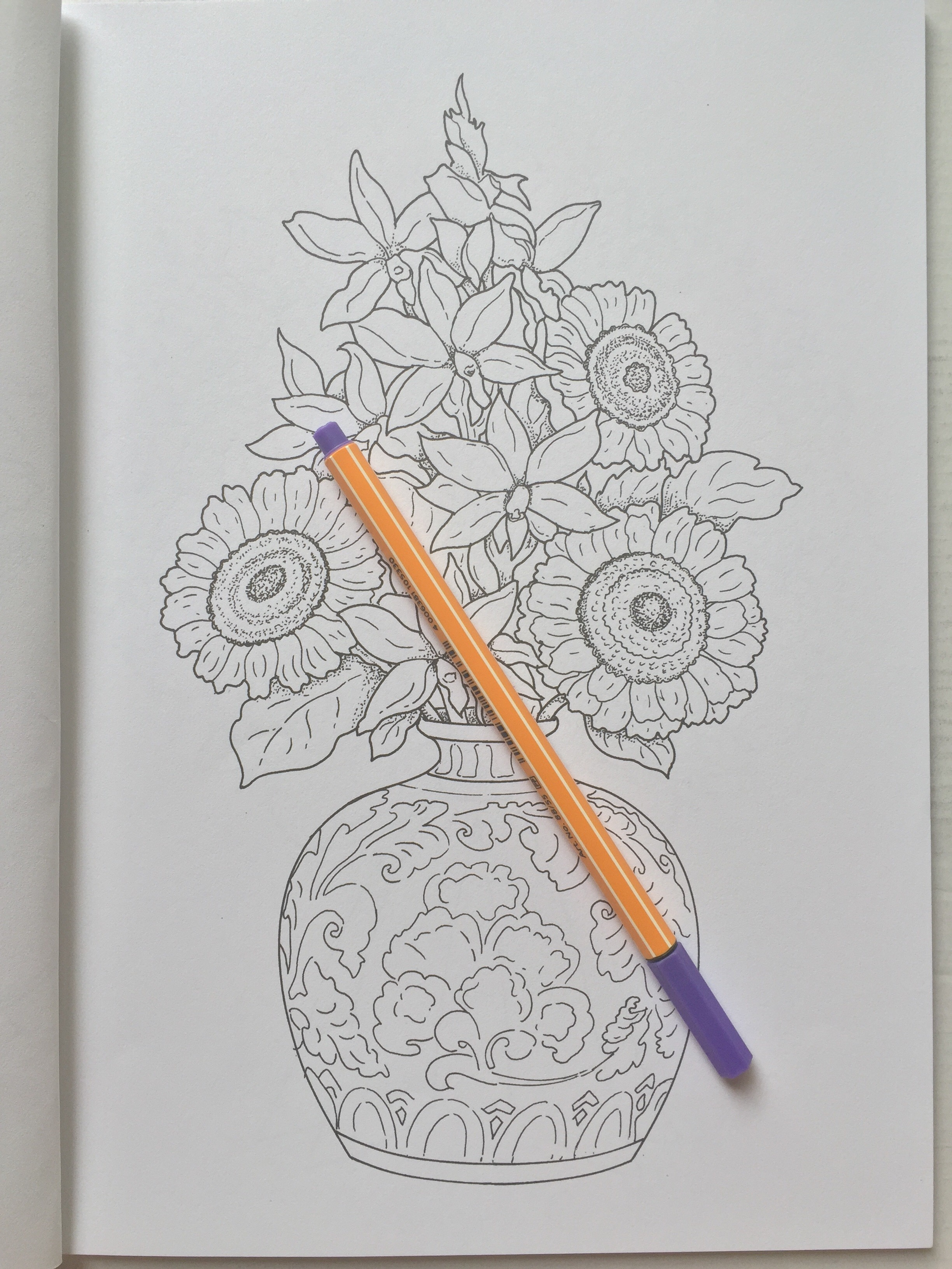 beautiful flower arrangements adult colouring coloring mindfulness  review