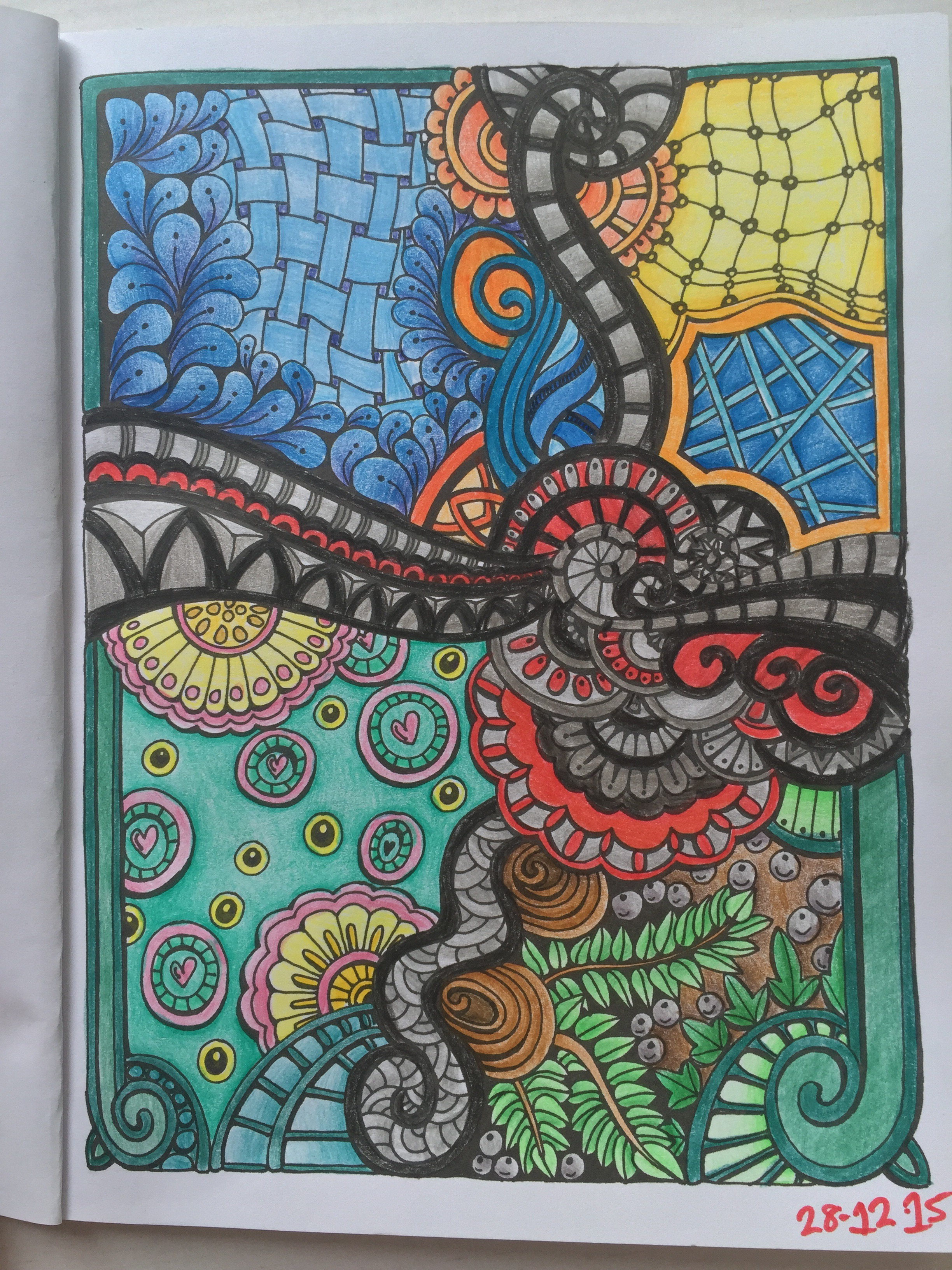 adult colouring mindfulness pencils relaxed and focused review art