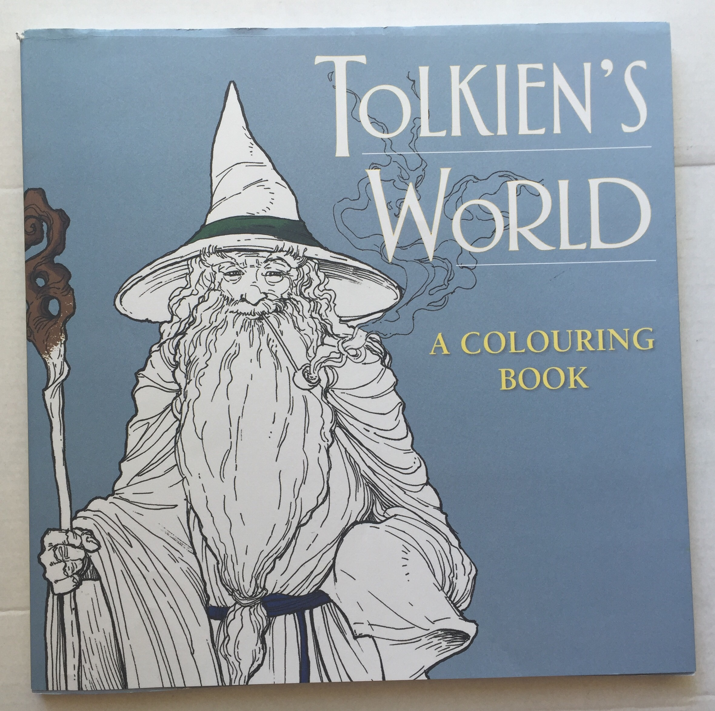tolkiens world colouring adult coloring stress relief mindfulness fantasy coloring colouring book pencils review books lord of the rings hobbit silmarillion art therapy