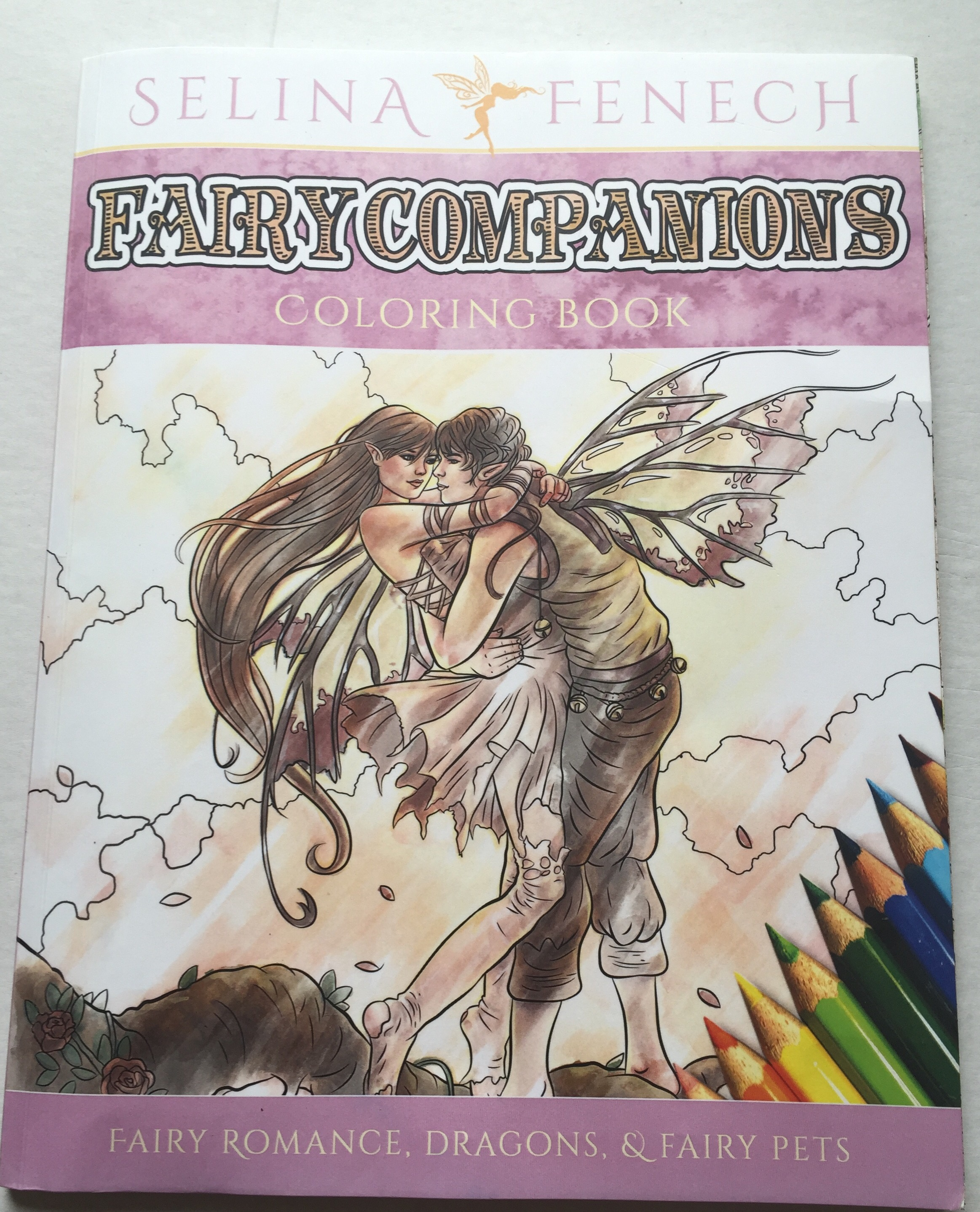 adult colouring coloring mindfulness fairies dragon fantasy colored colour color stress relief selina fenech stress depression pain review books book