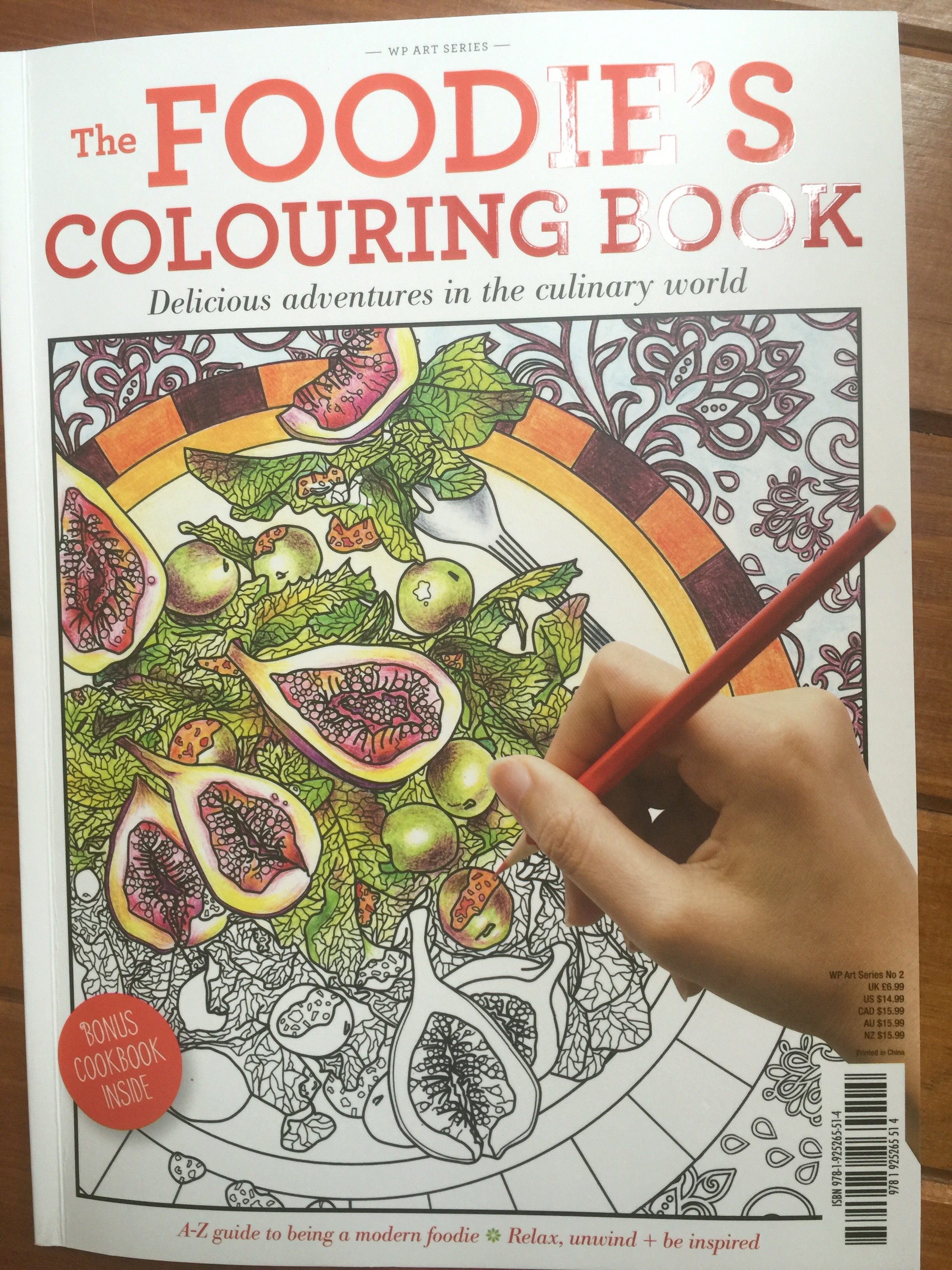 colouring coloring adult foodie love anti stress pencils book review reviews mindfulness art therapy