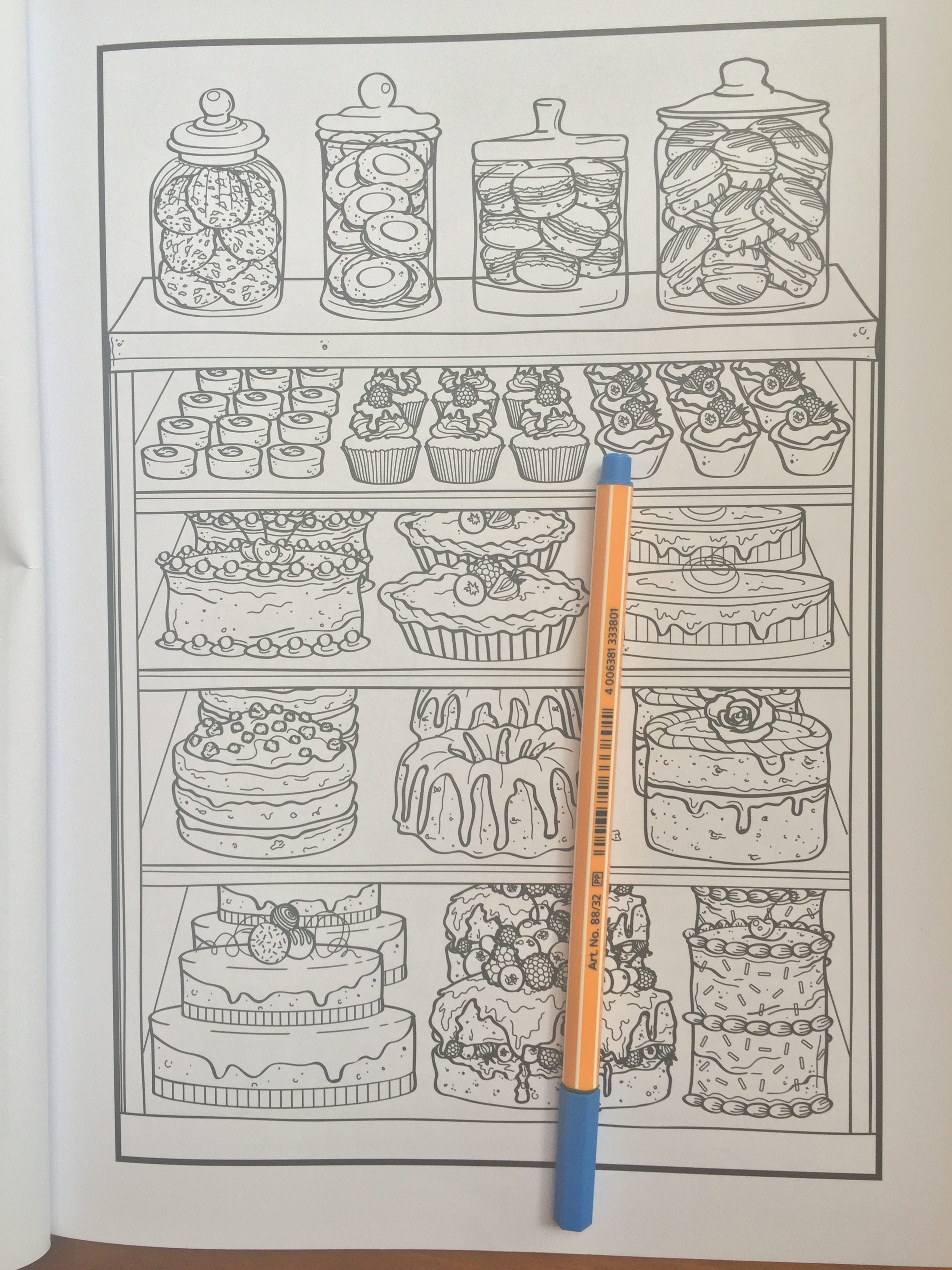 Anti stress coloring therapy - Colouring Coloring Adult Foodie Love Anti Stress Pencils Book Review Reviews Mindfulness Art Therapy