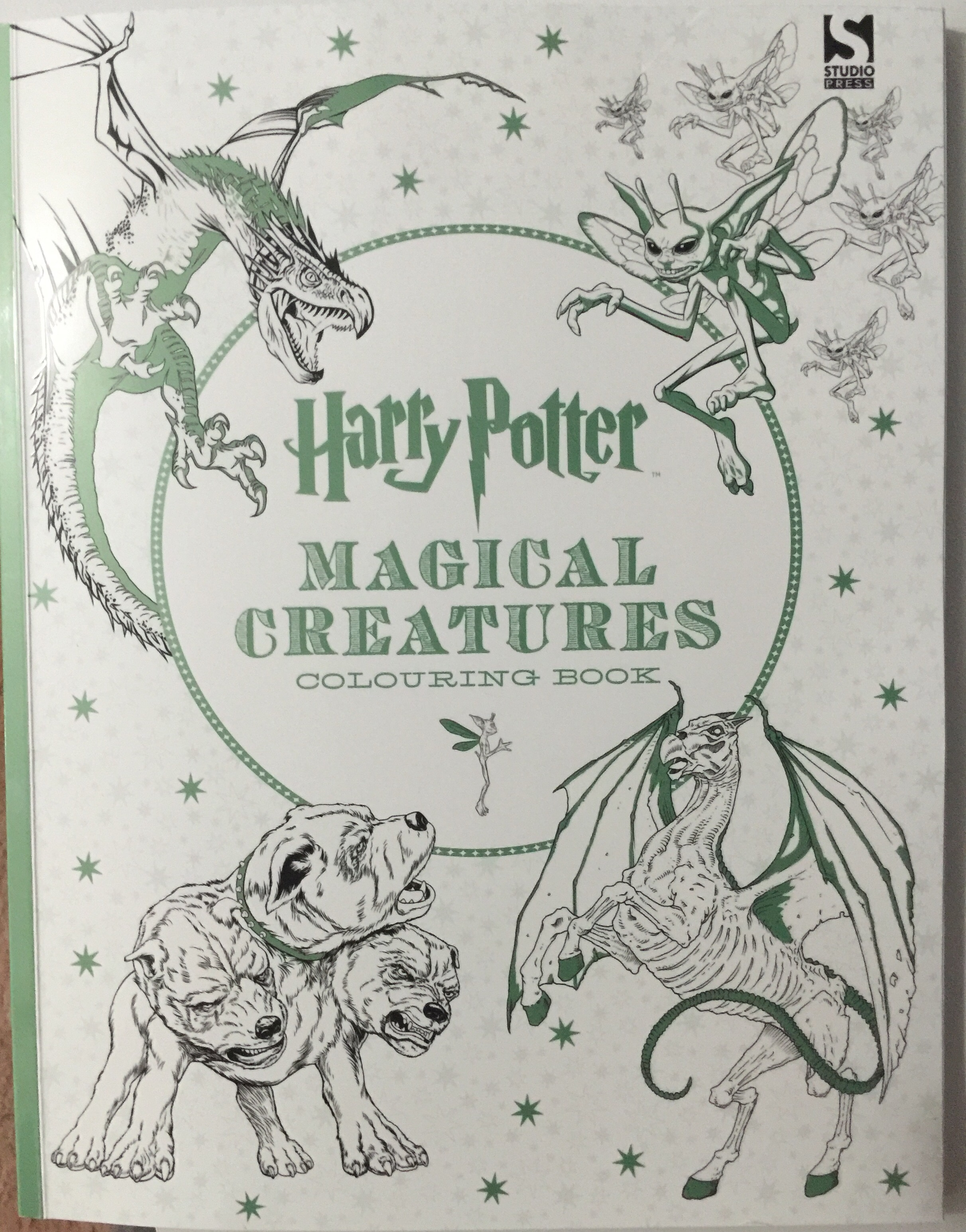 adult coloring harry potter magical creatures colouring mindfulness art therapy anti stress pencils book review