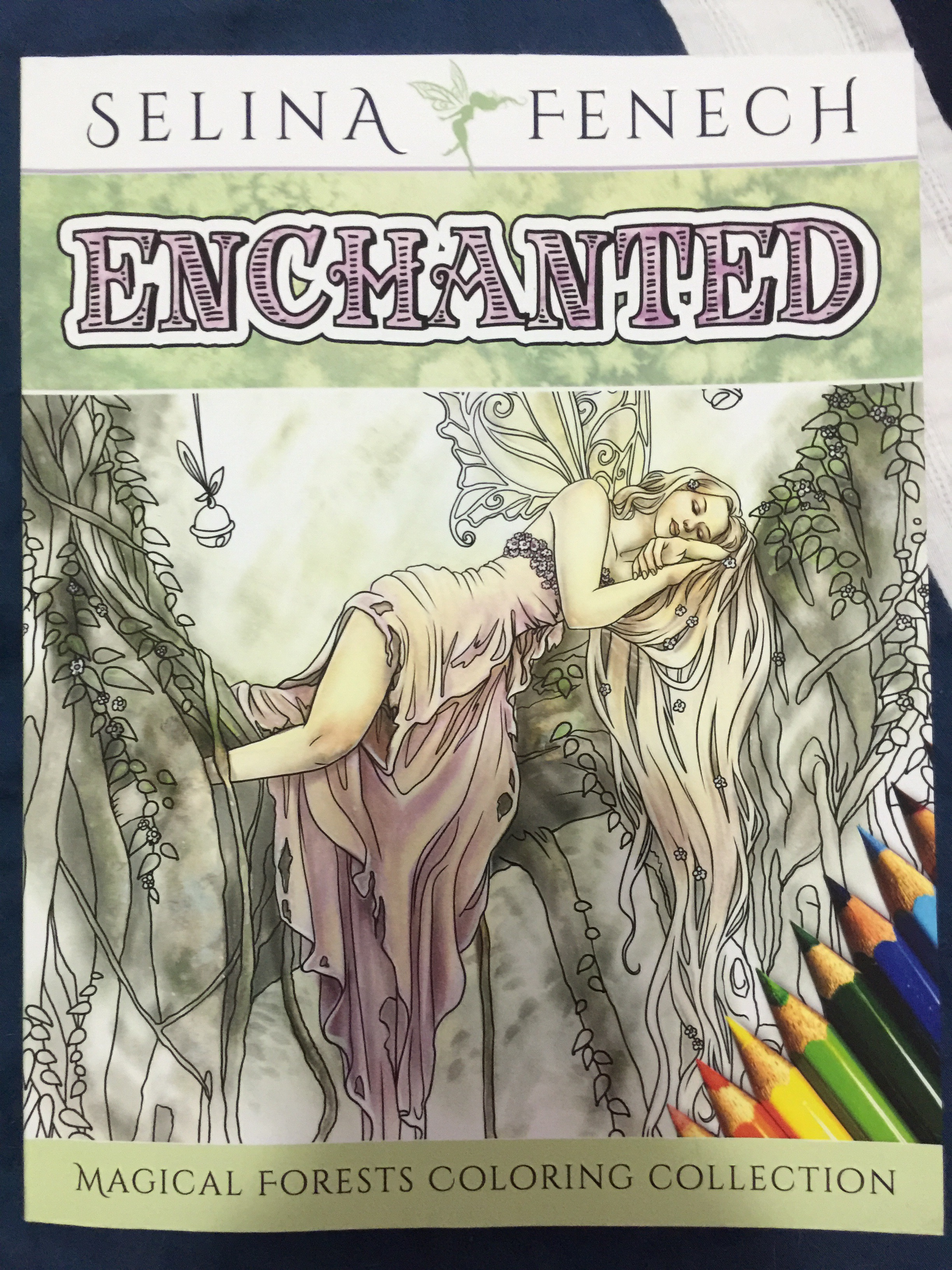 selina fenech colouring enchanted fantasy coloring adult fairy dragon pencil colored color pencils markers  unicorn