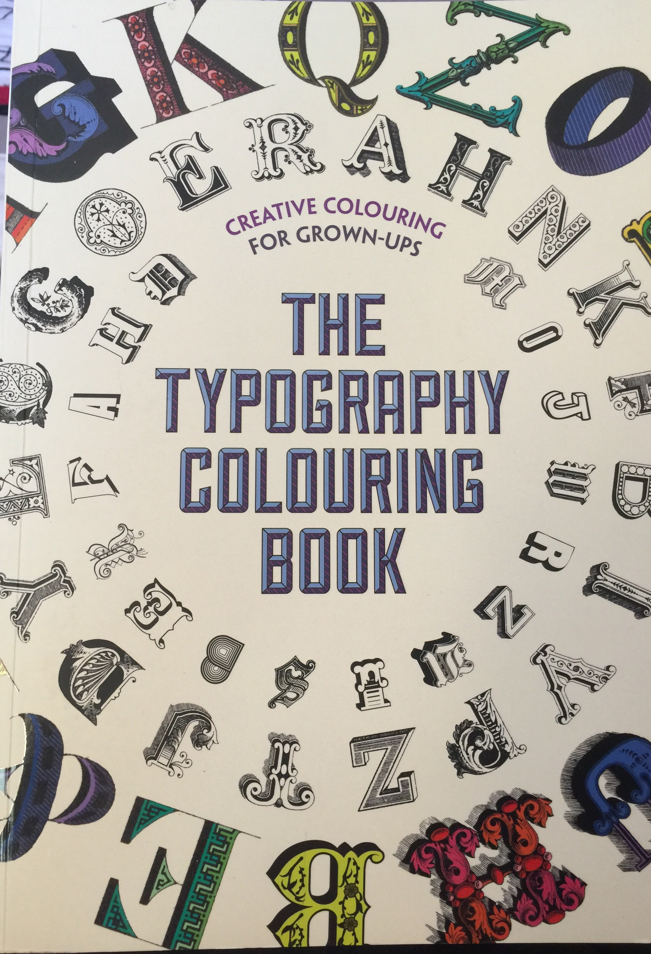 adult colouring stress relief review coloring color colour books review art therapy typography