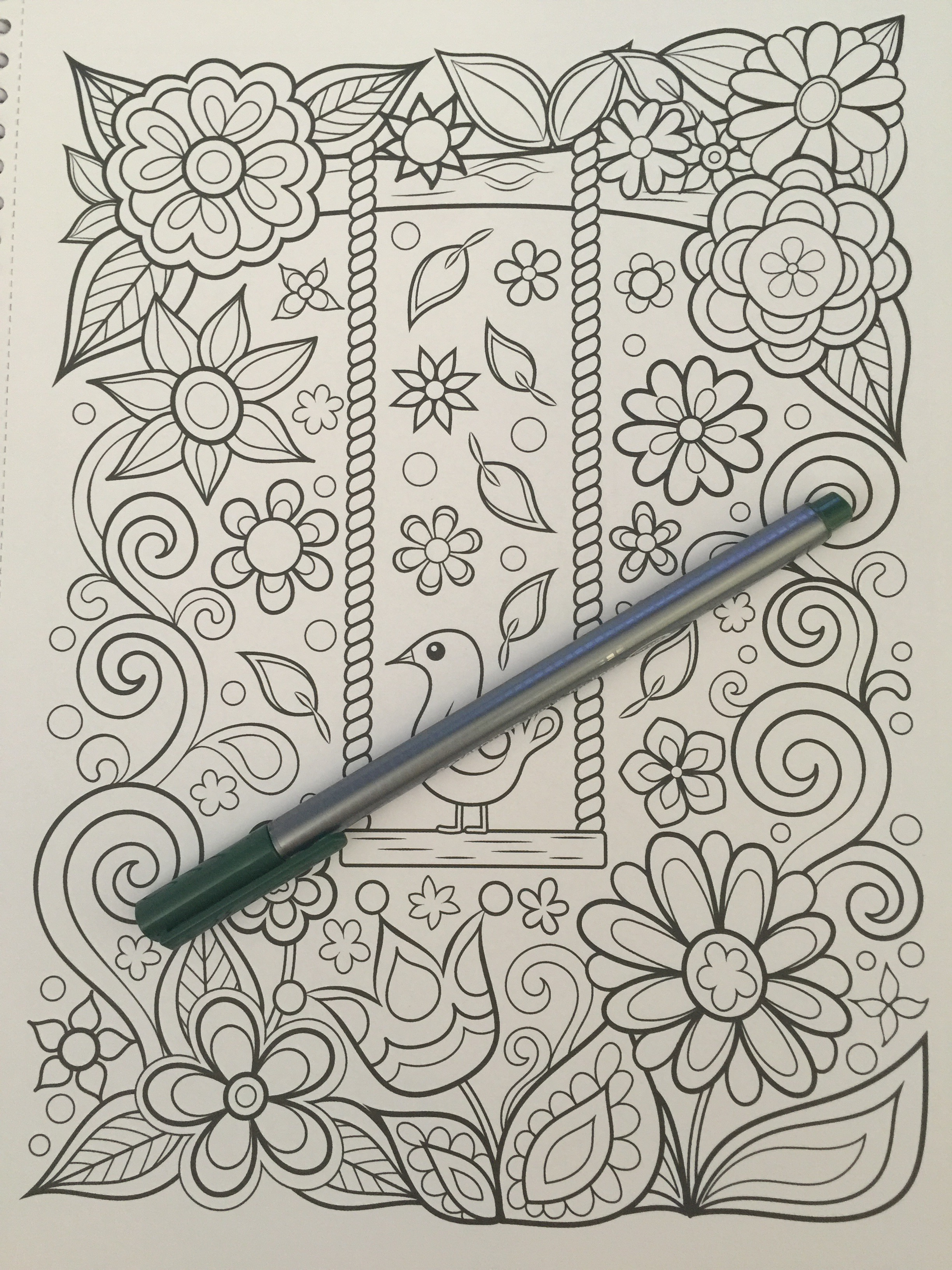 coloring adult review completed adult colouring color colour pencil pens mindfulness art therapy stress relief