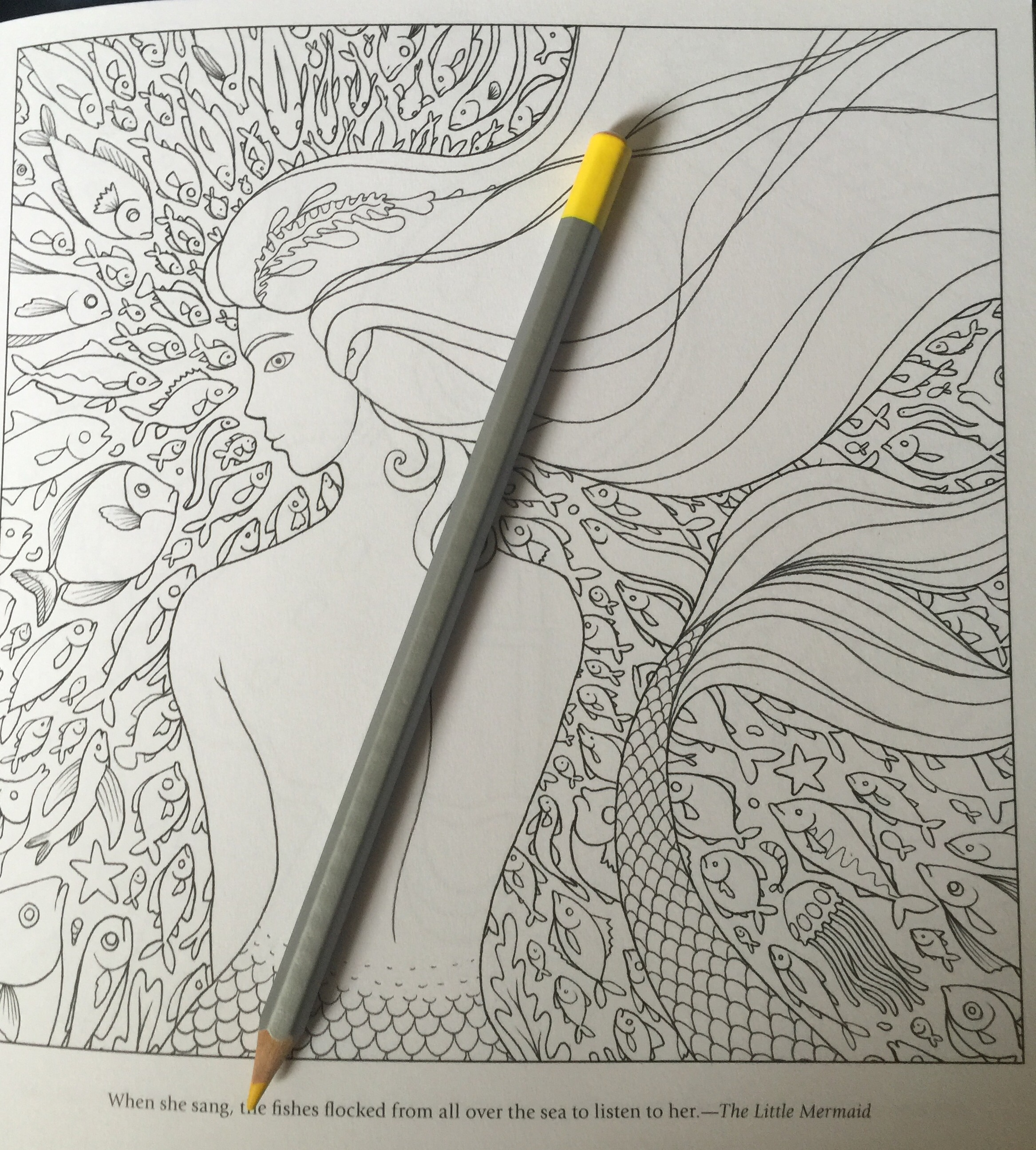 coloring adult fantasy colouring colour color pencils completed fairy tales stress relief art therapy