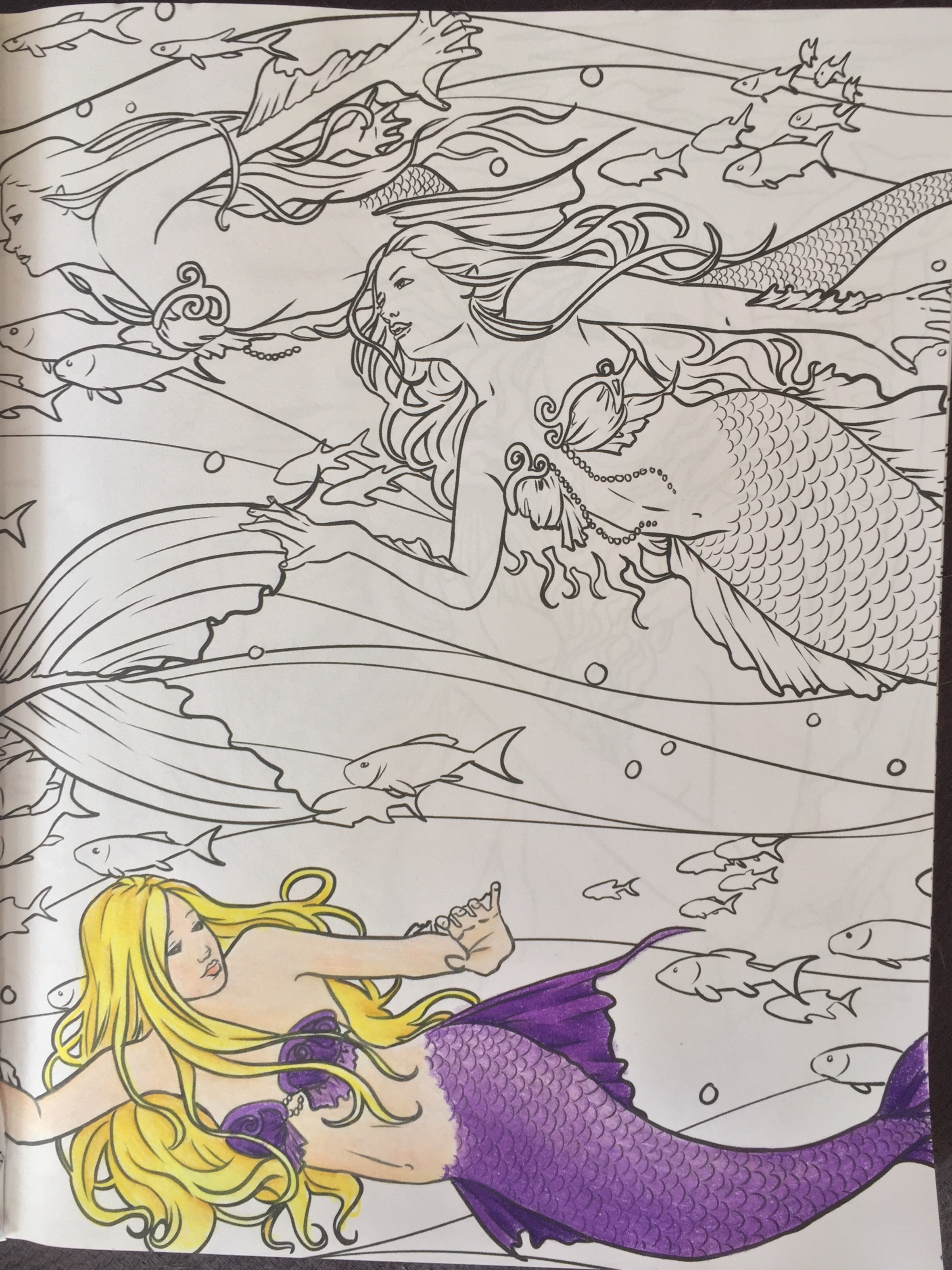 fantasy coloring completed pictures colouring adult colour color pencil art therapy stress relief selina fenech