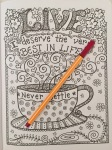 coloring inspirational quotes adult colouring therapy stress relief art therapy managament colour color pencils reviews books completed