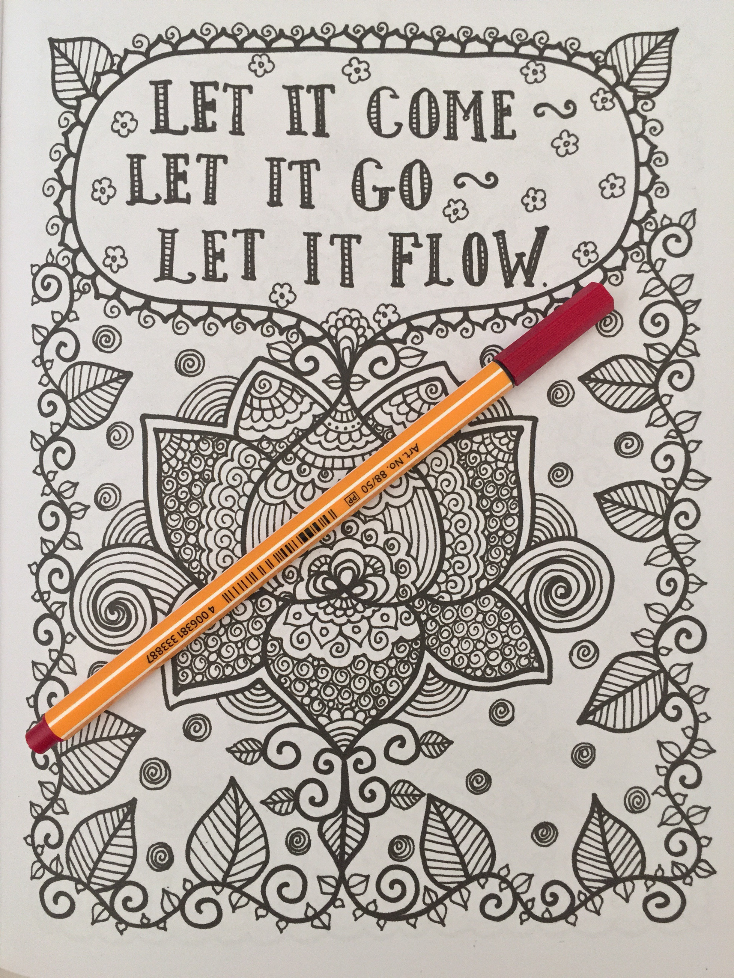 Adult coloring book with quotes - Coloring Inspirational Quotes Adult Colouring Therapy Stress Relief Art Therapy Managament Colour Color Pencils Reviews Books