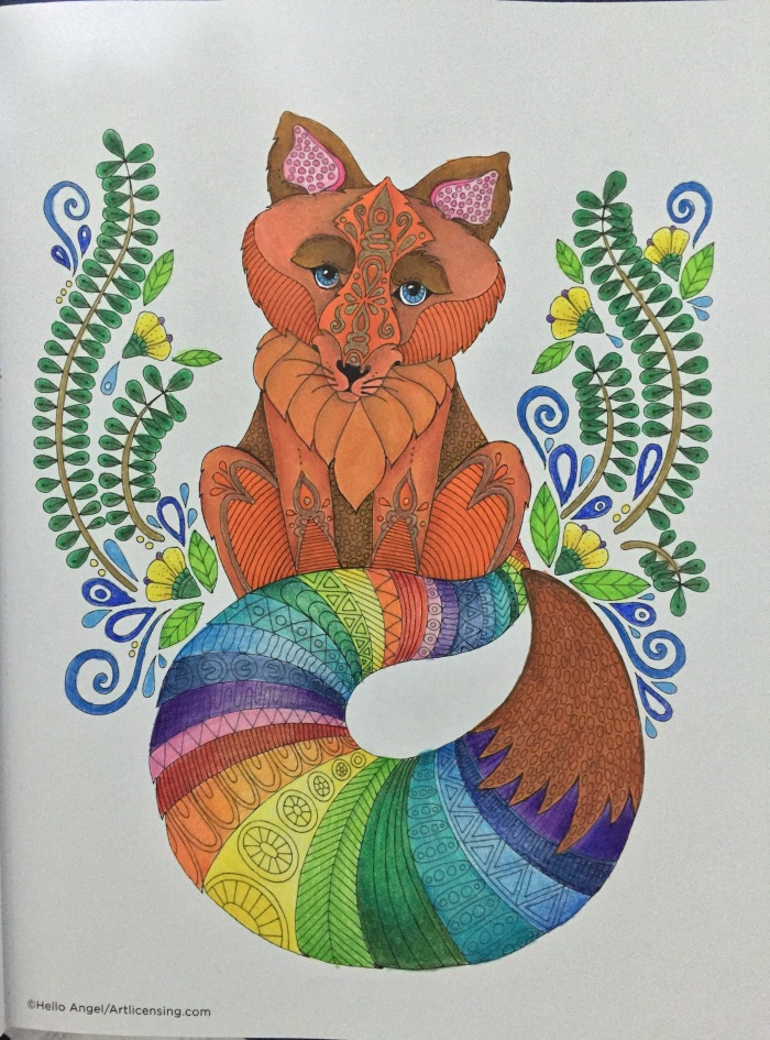 coloring adult colouring animals doodling animorphia color pencils tangles completed angel van dam colour book review  art therapy