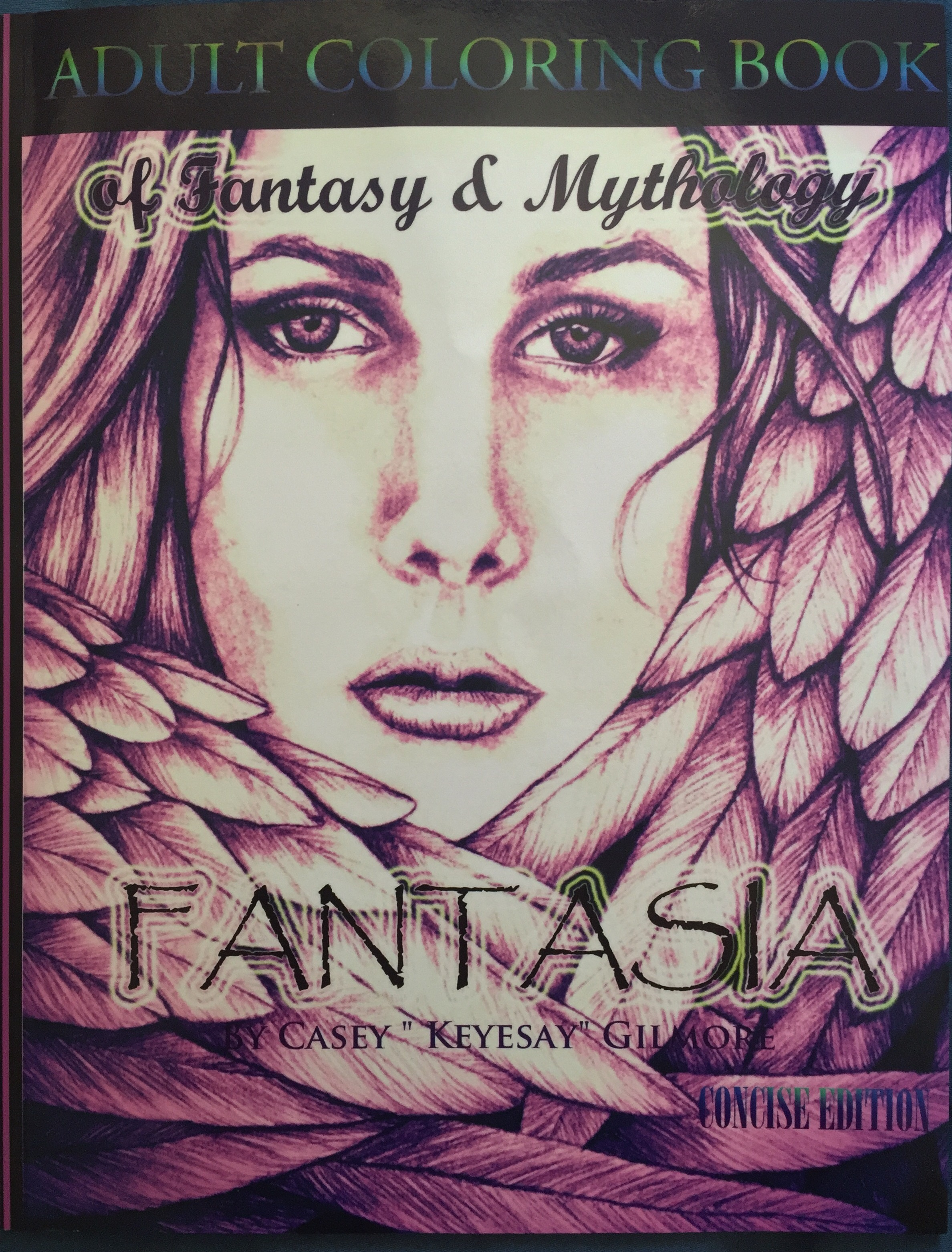 Fantasia Adult Coloring Book Of Fantasy Amp Mythology Concise Edition Chronically Batgirl