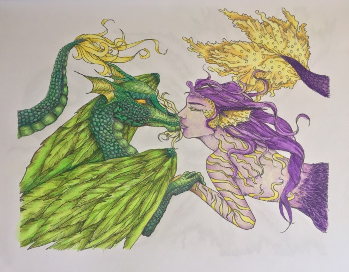 fantasy coloring adult pages colour pencils colouring color relaxing art therapy adult color mythology colouring  reviews