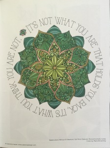 color fantasy mandalas finished quotes Coloring nature magic reviews animals colouring woodland pictures inspirational  adult relaxing art therapy pencils coloring stress relief completed calming patterns colour