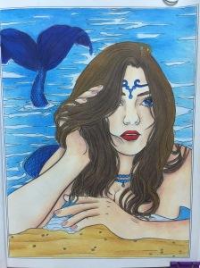 Mermaids coloring prismacolor
