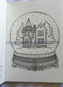 Vinterdrommar Colouring postcard