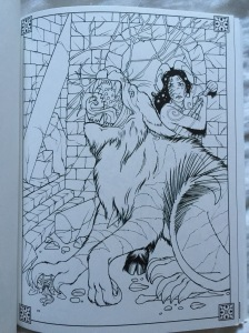 fantasy quest coloring book adults