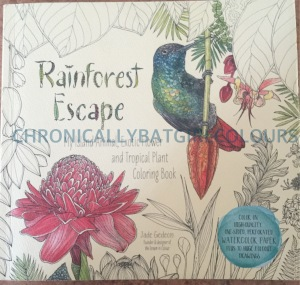 Rainforest Plant watercolor coloring book adults