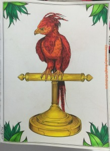 harry potter creatures postcards  coloring book